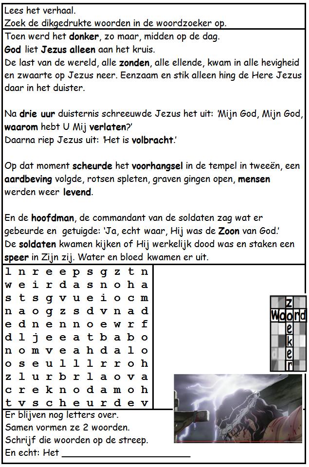 Fonkelnieuw Spel: Bijbel Puzzel - Jezus stierf voor mij HQ-11